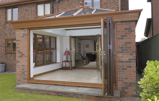 Bi folding doors haslemere bi folding doors surrey for Conservatory doors exterior