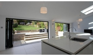 Low Threshold option for Bi-folding Doors